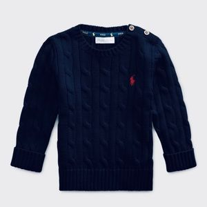 Ralph Lauren Baby Boys Cable Knit Cotton Sweater